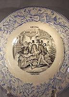 """At the Ball"" French Plate-Transferware, vintage china, French company"