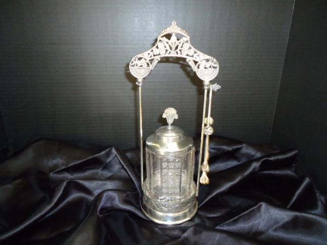 Ornate S.P. Pickle Castor late 19th Century-