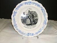 French  Transferware  Ala Campagne-Creil, French transferware, view of peasants