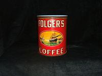 Vintage Folgers Tin-