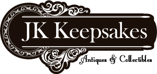 JK Keepsakes banner. Antiques and collectibles.