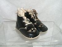 1920's Little Boy Shoes-patent leather; vintage shoes;children's shoes; 1920's-30's.