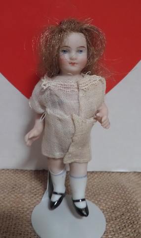 Tiny German Bisque Doll-
