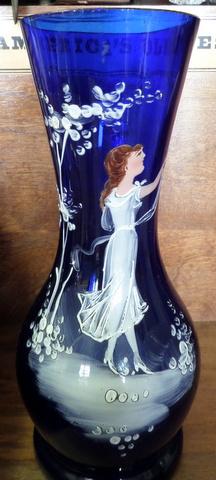 Mary Gregory Cobalt Vase-