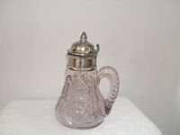 Silverplated  Glass Syrup-