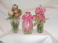 Vintage Pink & Green VanityTrio-